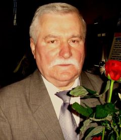 Lech Walesa paid tribute to his compatriot John Paul II