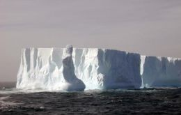 One of the icebergs is almost 250 meters long