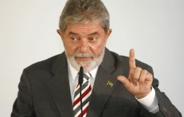 President Lula da Silva praised the competence of English football