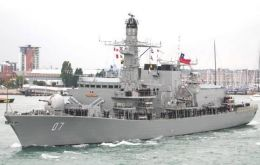 Former Royal Navy frigates now under Chilean flag