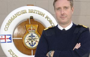Among other vessels Commodore Phillip Thicknesse served on HMS Fearless and HMS Leeds Castle, Falklands patrol ship