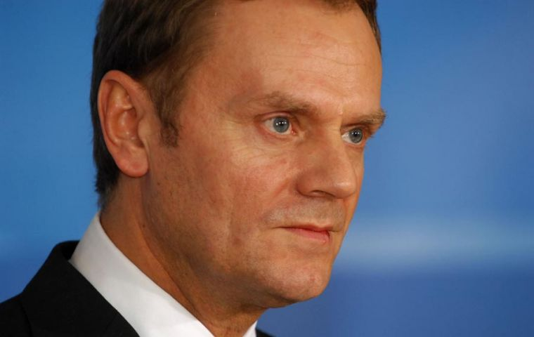 The original target anticipated by Prime Minister Donald Tusk was 2012