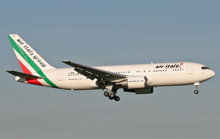 Air Italy founded in 2005 carries a million passengers annually and employs 700 personnel.