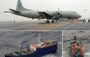 PK Orion like the one which detected the Carmela fishing for toothfish in the Ross Sea. (Photo:RNZAF/beehive.govt.nz)