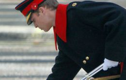 Prince Harry laying a wreath at the Cenotaph in Whitehall