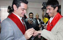 The marriage of Alex and Jose Maria was hailed as a victory for gay rights