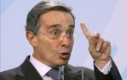 President Uribe said Colombia is not in the game of provoking