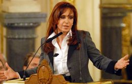 President Cristina Kirchner insists that inflation remains one digit