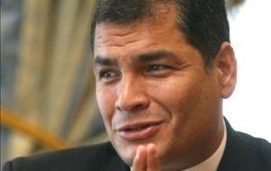 President Correa blasts arrogance of the Financial Action Task Force