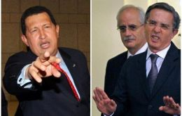 "Chavez and Uribe shouting match at ""unity"" summit"