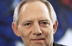 German Finance Minister Wolfgang Schaeuble floated the idea