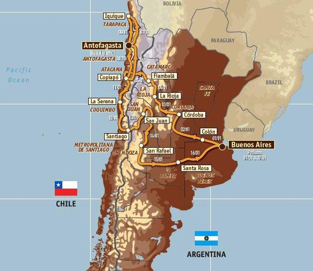 map of argentina and chile. in Argentina and Chile for