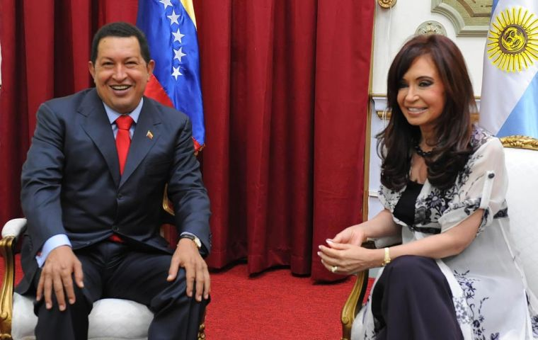 Mrs. Kirchner called for the union of South America
