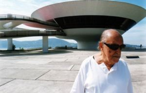 "Oscar Niemeyer, the 102-year-old communist regarded as the ""father"" of the Brazilian capital"