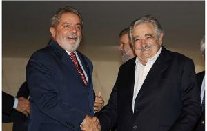 Lula da Silva and Mujica have a long bilateral agenda to address
