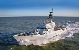 HMS Clyde, is permanently deployed to the South Atlantic