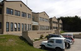 Falklands School complex in Stanley