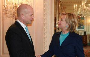 Washington was Foreign Secretary Hague first overseas trip