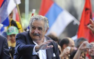 President Jose Mujica has a 61% support