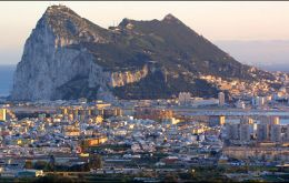Brid's eye view of Gibraltar