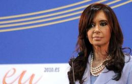 "Mrs. Kirchner blamed ""unilateralism"" for global insecurity"