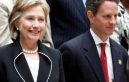 Hillary Clinton and Timothy Geithner lead the US delegation