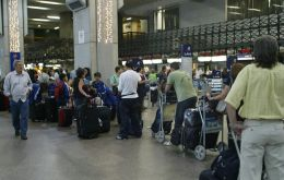 The worst case in Manaus but in Sao Paulo air terminals are also at over capacity at peak hours
