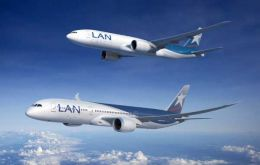 Most Lan flights (85%) also left on time