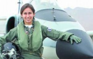 Karina is also the first Chilean female war pilot