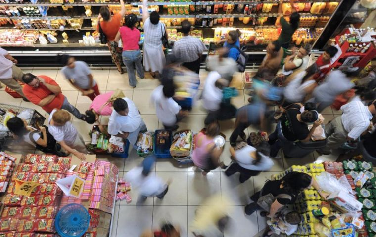 Brazilian consumers are confident and have gone on a spending spree