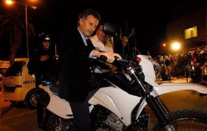 Mayor Mauricio Macri is also a 2011 presidential hopeful