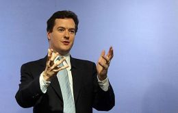 "Britain's Treasury chief George Osborne: ""banks must make a fair and substantial contribution"""