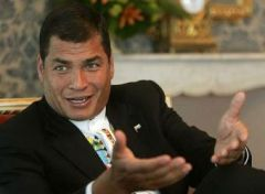 "President Correa said the ""perverse"" accusation was because of Ecuador's ""close ties with Iran"""