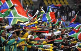 The colourful plastic horn that hummed throughout all matches in South Africa