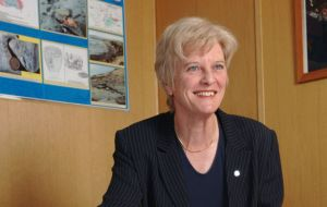 Falklands' Director of Mineral Resources, Phyl Rendell 'really pleased' with the drilling program