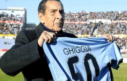 Alcides Ghigggia, the veteran striker