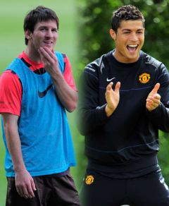 Soccer stars Leonel Messi and Ronaldo Cristiano figure with 44 and 40 million USD