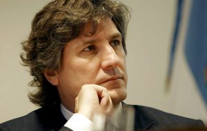 Economy minister Amado Boudou, most happy with prospects