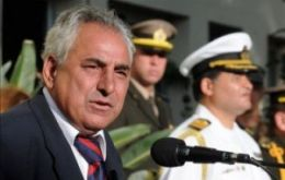 Uruguay's Defence minister Luis Rosadilla