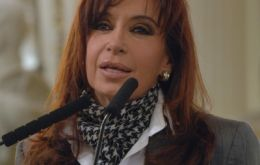 Mrs Kirchner boasting the success of Argentine economic performance