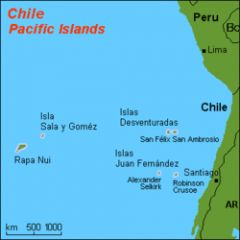 The island 1.990 miles off the Chilean coast is famous for its red coral and 100 metre long algae