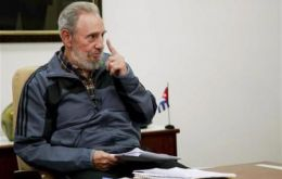 The retired ailing Cuban leader spends his time writing
