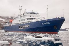 """Plancius"" should be opening the cruise season in South Georgia next October 30"