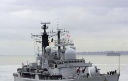 The Type 42 destroyer based in Portsmouth is currently in the South Atlantic