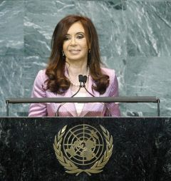 The Argentine president displayed her speaker's talent and wardrobe at the UN