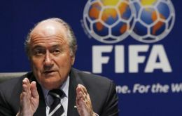 "President Joseph S. Blatter: ""this is a historic moment for football"""