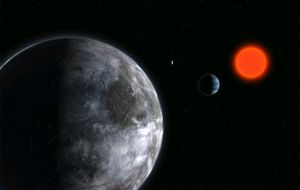 Gliese 581 is some 20 light years away