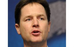 Deputy PM Nick Clegg at the Lib-Dem party conference