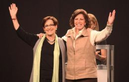 Susana Villaran and Lourdes Flores, confirm middle of the road politics in Peru