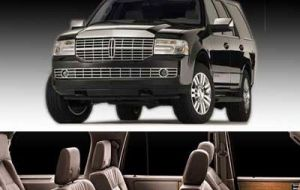 Two delights: the Lincoln Navigator and the Cadillac Escalade, with a starting price of 250.000 US dollars